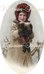 Victorian Snow Girl With Muff Download Image