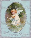 Victorian Easter Angel Card Down-load Image