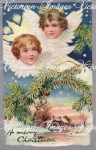 Christmas Angel Heads With Wings Image Download