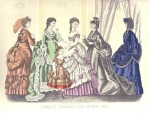 Godey's Fashions March 1870 Lovely Engraving Tinted Print