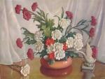 Vintage Print Floral Flower