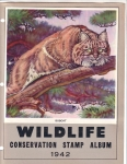 Wildlife Conservation Stamp Print 1942 Bobcat