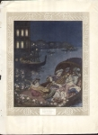 Vintage Print From The 1900's Edmund Dulac Et Narcisa French Artist