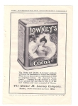 Good Housekeeping Ad Lowney's Cocoa 1900s