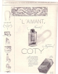 Vintage Perfume Ad L'aimant By Cody Of New York 1928