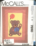 Vintage Quick And Easy Quilts Bear With Balloon Sz 43 X 59 Crib Sz