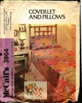 Vintage Mc Call's Coverlet And Pillows Patchwork Twin And Double Size