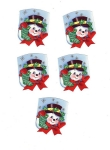Vintage Christmas Seals 40s-50s Snowmen (5) Set 1
