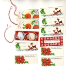 Vintage Christmas Tags Set Of 11
