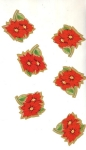 Vintage Christmas Seals Small Poinsettias
