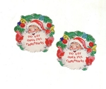 Two Early Santa Christmas Seals Do Not Open Till Christmas