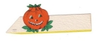 Vintage Halloween Table Placement Card Pumpkin