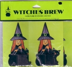 Vintage Set Mip Witches Brew Four Honeycomb Decorations