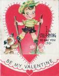 Vintage Valentine Im Stil-t-trying To Get You To Be My Valentine Boy On Stilts
