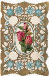 Vintage Valentine With Applied Rose Die Cut