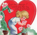 Vintage Valentine I Want You For My Valentine