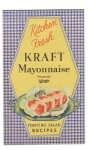 Vintage Kraft Mayonnaise Foldout Recipes