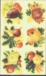 Vintage Meyecord Decal Large Sheet Vegetables