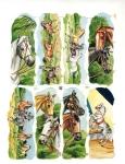 Vintage Die-cut Horses Full Sheet Eas Germany