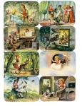 Vintage Die-cut Scrap Book Stories/snow White/puss Boots,etc