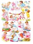 Vintage Die-cut Children Full Sheet Eas 3136