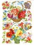 Vintage Die-cut Baskets And Flowers By Eas Embossed # 3125