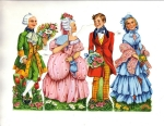 Vintage Die-cut Scrap Couples German 3095