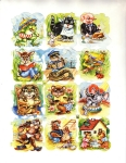 Vintage Die-cut Scrap Adorable Animals Eas Germany