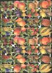 Vintage Large Sheet Die-cut Scrap Embossed Fruit Double Sheet Eas Germany