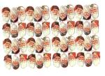 Vintage Die-cut Santa Heads 48