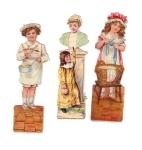 Vintage Die-cut Scraps Children 1900s