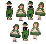 Vintage Die-cut 1900s Dutch Children