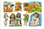 Vintage Sheet Of Mlp Set Of Dogs Cute