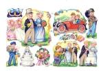 Vintage Mlp Die-cut Wedding Scrap England