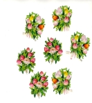 Vintage Die-cut Tulips Made In Germany Pzb