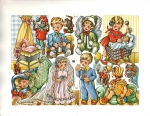Vintage Die-cut Scrap Children In Costume By Eas