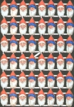 Vintage Pzb Die Cut Scraps Santa Heads Large Sheet Germany