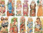 Vintage Die Cut Sheet Children Embossed Sima Italy