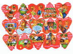 Vintage Die Cut Large Sheet Children Foreign Hearts