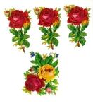 Beautfiul Die-cut Vintage Red Roses Set