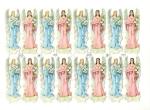 Vintage Die-cut Easter Angels Full Page Made In Germany