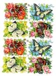 Vintage Die-cut Scrap Butterfly's German Pzb Sheet