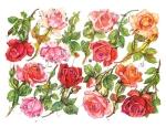 Full Page Die-cut Rose's By Eas