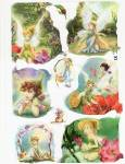 Vintage Die Cut Sheet Tinker Bell And Faries
