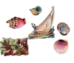 Victorian Die-cut Scrap Sea Related 1800s