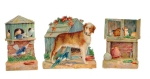Beautiful Set With Dog And Birds- Animals Victorian Die-cut