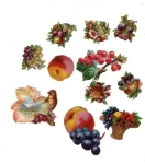 Victorian Die-cut Fruit Group