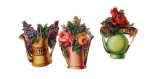 Victorian Die-cut Watering Cans With Flowers 3