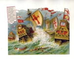 Victorian Die-cut The Spanish Armada Under Comand Of Drake