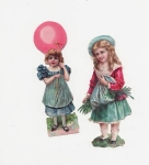 Victorian Die Cut Scrap Children